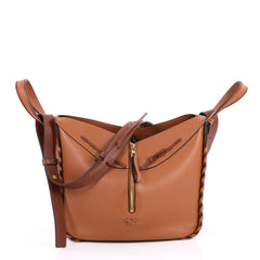 Loewe Hammock Bag Whipstitch Leather Small Brown 2728601