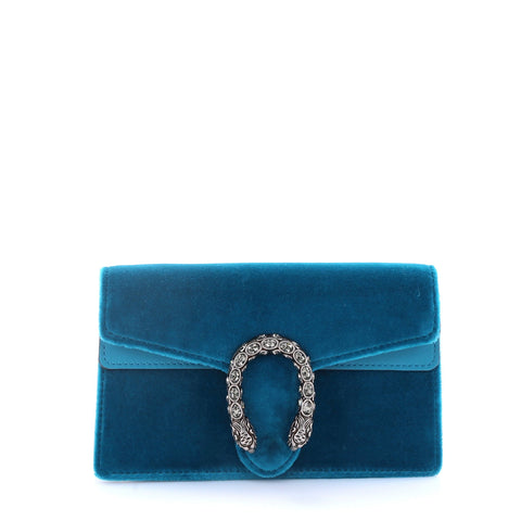 5ab9cf5c5e88 Buy Gucci Dionysus Handbag Velvet Super Mini Blue 2728902 – Rebag