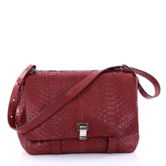 Proenza Schouler Courier Bag Python Large Red 2729401