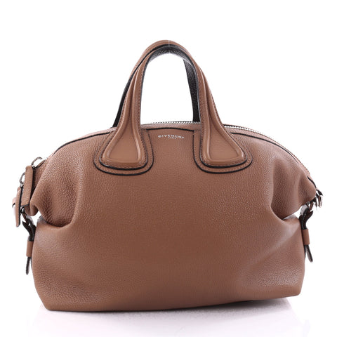 9c6eef8153df Buy Givenchy Nightingale Satchel Waxed Leather Medium Brown 2731401 – Rebag