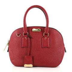 Burberry Orchard Bag Heritage Grained Leather Small Red 2735801