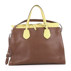 Gucci Ramble Layered Tote Pebbled Leather Large Brown 2736901