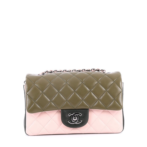 c90009a1824853 Buy Chanel Tricolor Classic Single Flap Bag Quilted Lambskin 2737901 – Rebag