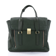 3.1 Phillip Lim Pashli Satchel Leather Large Green 2738401