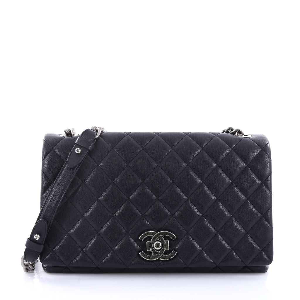 1f9596e3bc936d Buy Chanel City Rock Flap Bag Quilted Goatskin Large Blue 2742601 ...
