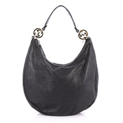 Gucci Twins Hobo Guccissima Leather Medium Black 2746002