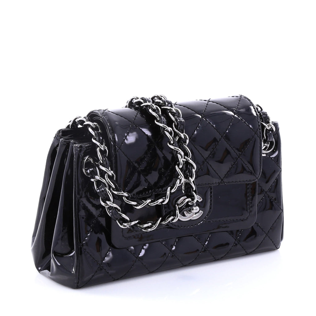 Buy Chanel Chain Double Accordion Flap Bag Quilted Patent 2747802 ... c0c6784423ef9