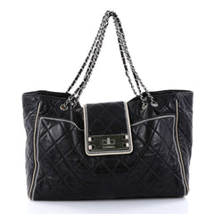 Chanel Mademoiselle Lock East West Tote Quilted Leather 2748601