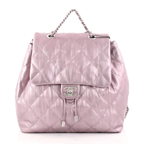 1ce98d1fba48 Buy Chanel Ground Control Flap Backpack Quilted Iridescent 2749401 – Rebag
