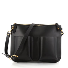 Marni Bandoleer Crossbody Bag Leather Medium Black 2751603