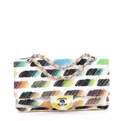 Chanel Watercolor Colorama Flap Bag Quilted Watercolor white 2753603