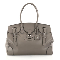Ralph Lauren Collection Soft Ricky Handbag Leather 40 Gray 2755001