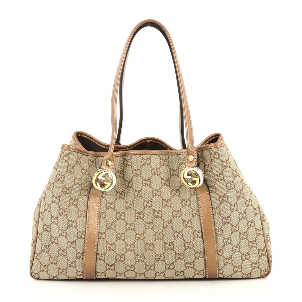 a1c4eddfc160 Buy Gucci Twins Tote GG Canvas Medium Neutral 2755105 – Rebag