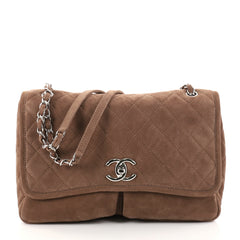 Chanel Natural Beauty Split Pocket Flap Bag Quilted Brown 2757001