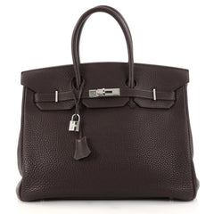 Hermes Birkin Handbag Brown Togo with Palladium Hardware 2757301