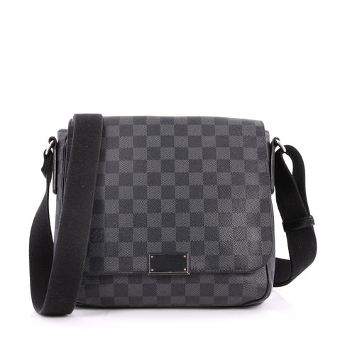 3ef2016686ab4 Buy Louis Vuitton District Messenger Bag Damier Graphite PM 2760905 – Rebag
