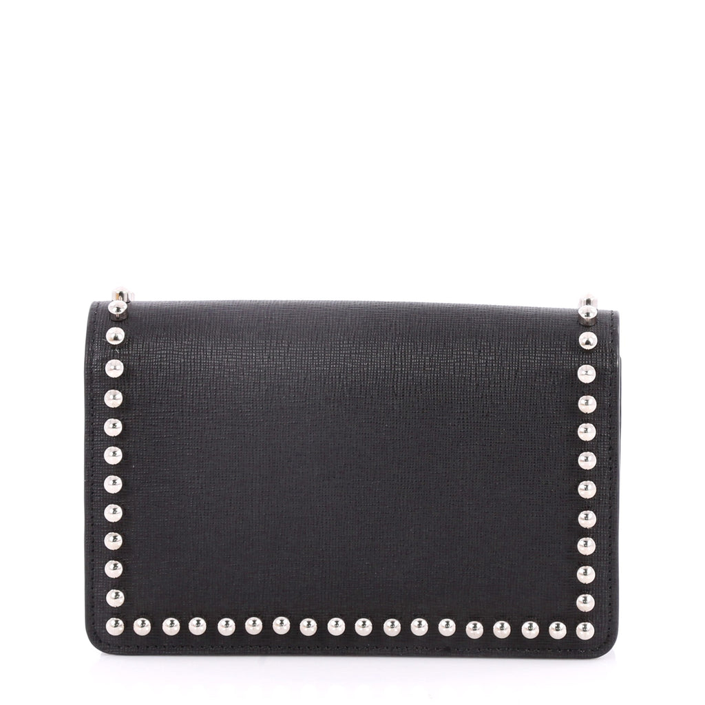 315eed724144 Buy Fendi Karlito Wallet on Chain Studded Saffiano Leather 2763201 ...