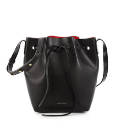 Mansur Gavriel Bucket Bag Leather Mini Black 2765501