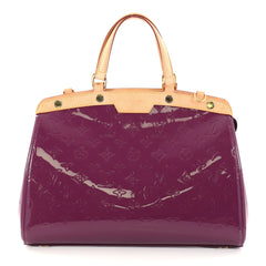 Louis Vuitton Brea Handbag Monogram Vernis MM Purple 2766301