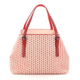 Bottega Veneta A-Shape Tote Cravatteria Intrecciato Nappa with Snakeskin Medium Pink 2768302