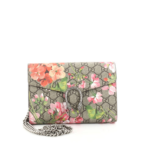 0a434d873ab Buy Gucci Dionysus Chain Wallet Blooms Print GG Coated 2768601 – Rebag
