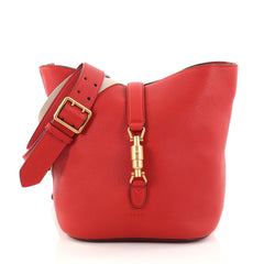 Gucci Jackie Soft Bucket Bag Leather Red 2768801