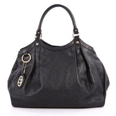 Gucci Sukey Tote Guccissima Leather Large Black 2769701