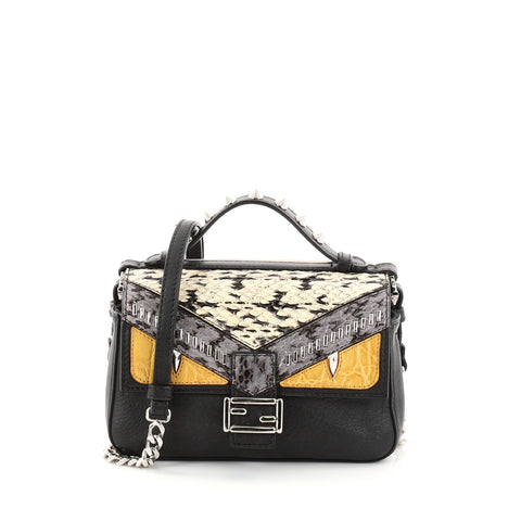 Buy Fendi Double Baguette Monster Crossbody Bag Leather and 2770101 – Rebag dfdcc992834a2