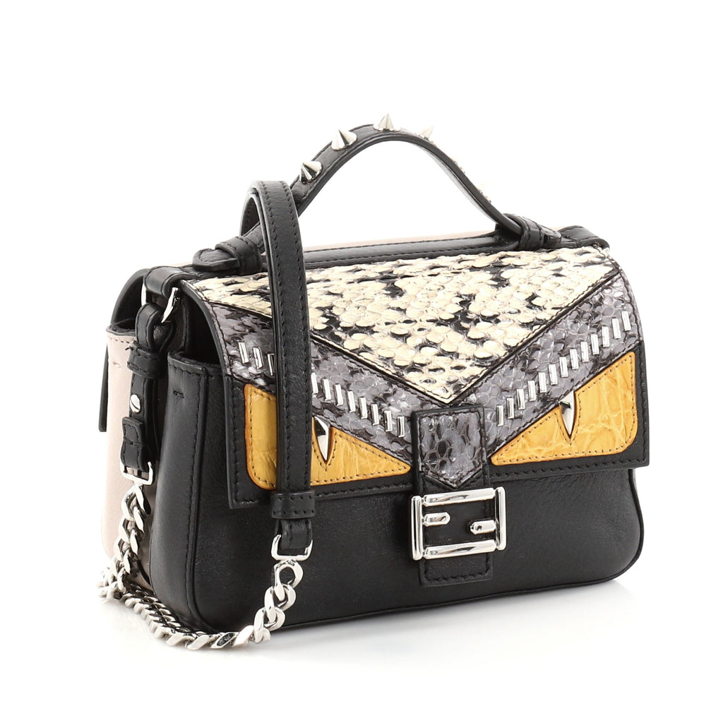 Buy Fendi Double Baguette Monster Crossbody Bag Leather and 2770101 ... 1f3819d445829