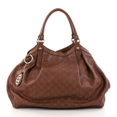 Gucci Sukey Tote Guccissima Leather Large Brown 2771001