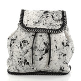 Stella McCartney Falabella Backpack Printed Linen Medium White 2772613