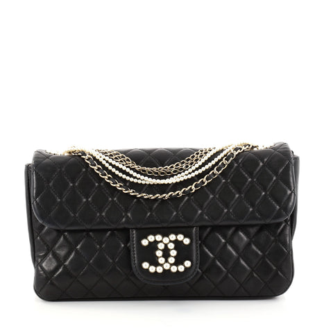 381e84338ac5 Buy Chanel Westminster Pearl Chain Flap Bag Quilted Lambskin 2772619 – Rebag
