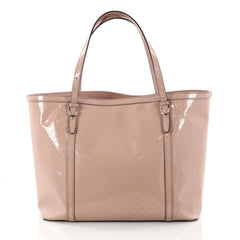 Gucci Nice Tote Patent Microguccissima Leather Medium Pink 2774201