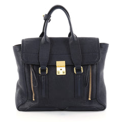 3.1 Phillip Lim Pashli Satchel Leather Medium Blue 2774301