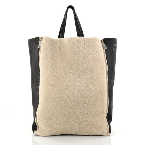 Buy Celine Vertical Gusset Cabas Tote Shearling and Leather 2774701 – Rebag a329a8919cca1