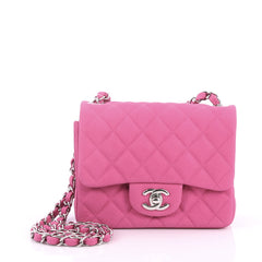 Chanel Square Classic Single Flap Bag Quilted Caviar 2779701