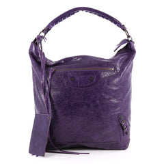Balenciaga Day Hobo Classic Studs Leather Purple 2779705
