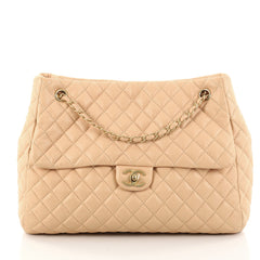 Chanel Fluffy CC Tote Quilted Lambskin Large Pink 2784502