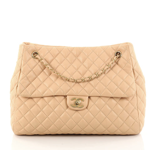 5e5533996d97 Buy Chanel Fluffy CC Tote Quilted Lambskin Large Pink 2784502 – Rebag