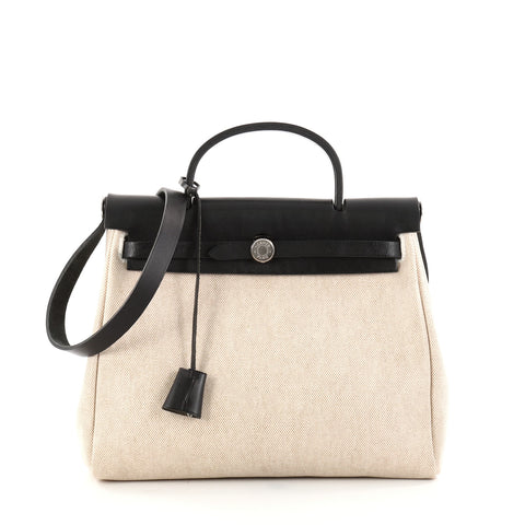 bea424222294a Buy Hermes Herbag Toile and Leather PM Neutral 2784801 – Rebag