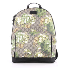 Gucci Zip Pocket Backpack Blooms Print GG Coated Canvas Brown 2785502