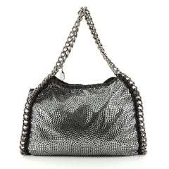 Stella McCartney Falabella Tote Studded Faux Suede Small Gray 2786805