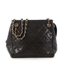 Chanel Vintage Zip Chain Shoulder Bag Quilted Caviar 2788301 3014d009a8fac