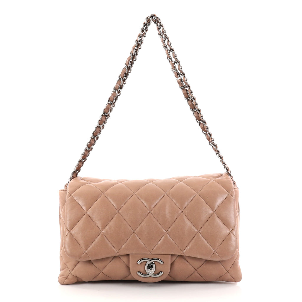 e35f3510dfae Buy Chanel 3 Accordion Flap Bag Quilted Lambskin Jumbo Brown 2789901 ...