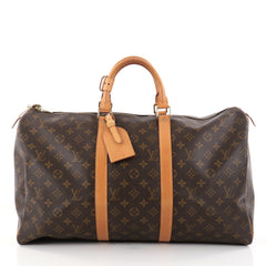 Louis Vuitton Keepall Bag Monogram Canvas 50 Brown 2791205 fcac05a60cb3b