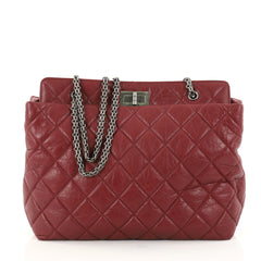 Chanel Reissue Tote Quilted Aged Calfskin Large Red 2792309