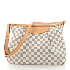 Louis Vuitton Siracusa Handbag Damier MM White 2793301