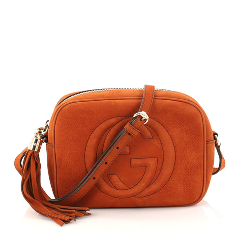 f3eac370047a Buy Gucci Soho Disco Crossbody Bag Nubuck Small Orange 2793903 – Rebag