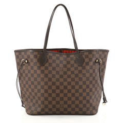 Louis Vuitton Neverfull Tote Damier MM Brown 2799702