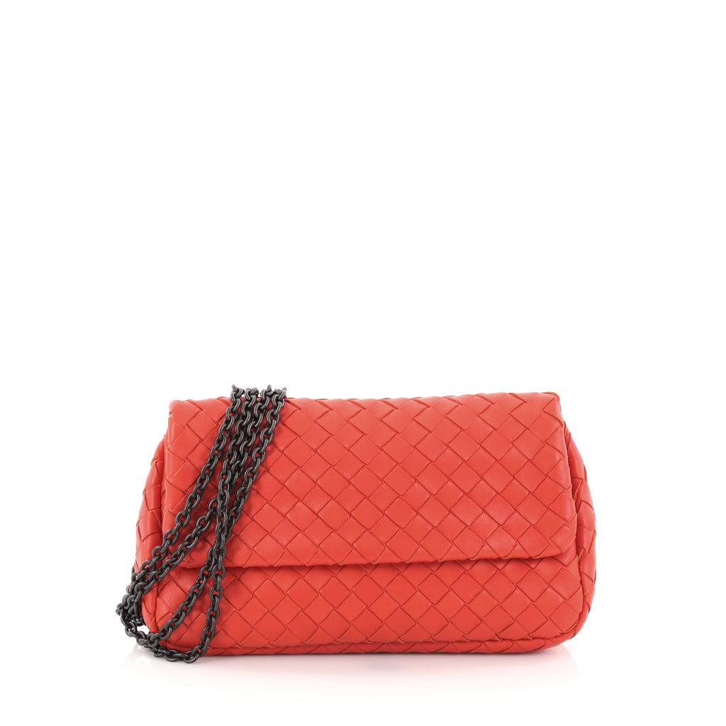 f409cfaff8 Bottega Veneta. Expandable Chain Crossbody Bag Intrecciato Nappa Small